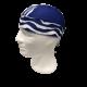 Pañuelo blanco rayas azules