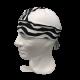 Pañuelo blanco rayas negras