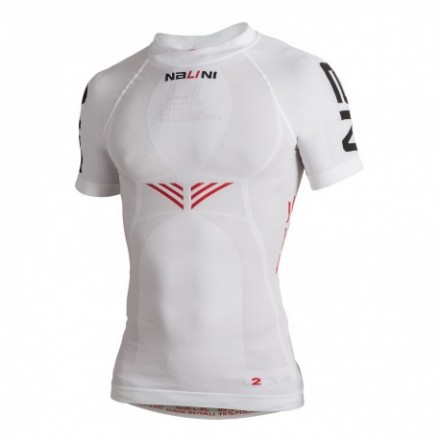 Camiseta Manga corta Nalini Blanca Ciclismo